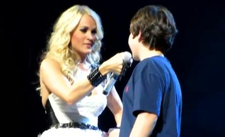 Carrie Underwood Kisses 12-Year Old Fan