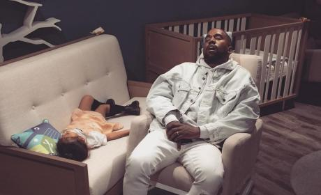 Kanye Sleeps with North
