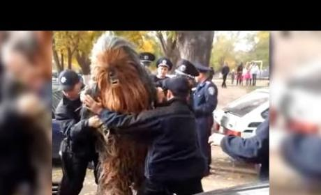 Chewbecca: Arrested in Ukraine While Campaigning for Darth Vader