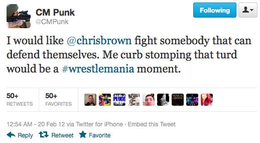 Brown Punk Ass Tweet