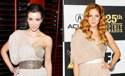Fashion Face-Off: Kim Kardashian vs. Rachelle Lefevre
