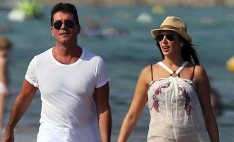 Simon Cowell and Lauren Silverman: Going Public! Holding Hands on Beach!