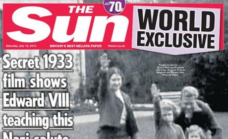Queen Elizabeth II: Caught Giving Nazi Salute!!!!!!