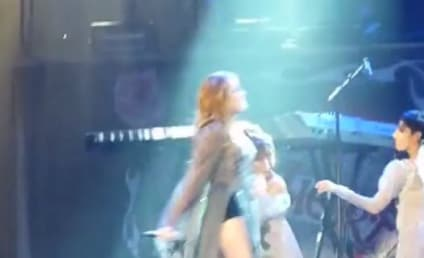 Miley Cyrus Dons Revealing Clothing, Covers Classics in Australia