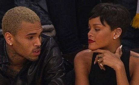 Chris Brown and Rihanna: Spotted, Going Public at Staples Center!