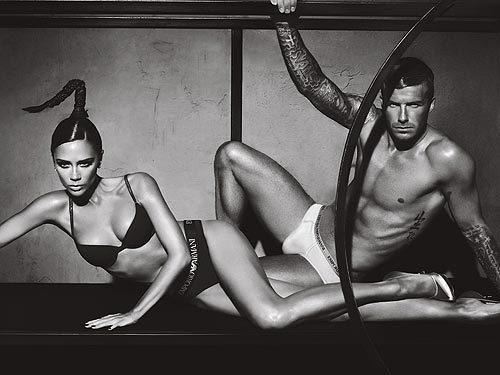 Victoria and David Beckham Underwear Pic