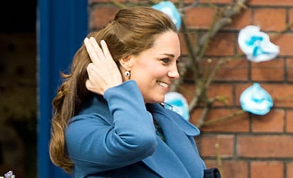 Kate Middleton Sports Baby Bump, Blue Coat & New Hairstyle, Internet Goes Berzerk
