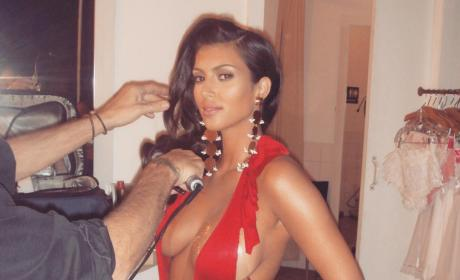 Kim Kardashian Hearkens Back to Hotter Days