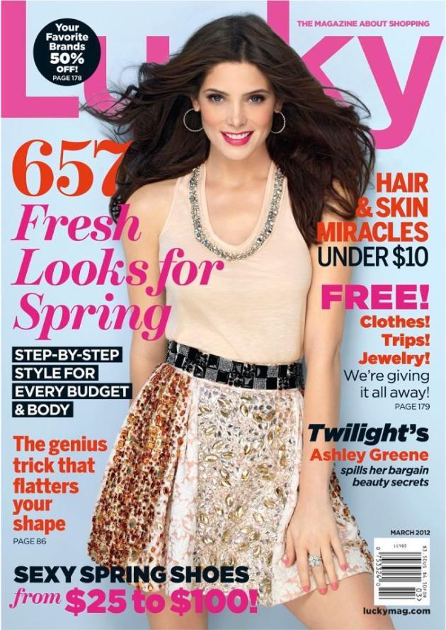 Ashley Greene Lucky Cover