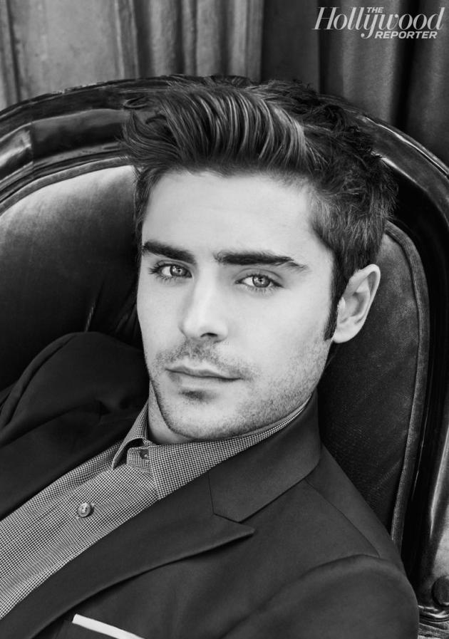 Zac Efron in Black and White
