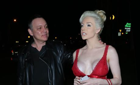 Courtney Stodden And Doug Hutchison Looking Happy