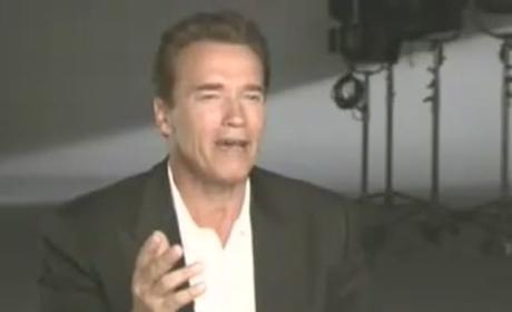 Arnold Schwarzenegger Smoking a Joint