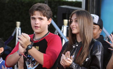 Prince Jackson and Paris Jackson