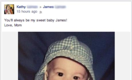 Area Mom Posts Cute Facebook Photo of Baby Son ... Who is Now 31 Years Old