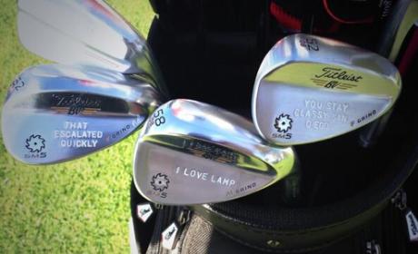 Morgan Hoffmann Honors Anchorman on PGA Tour, Really Loves Lamp