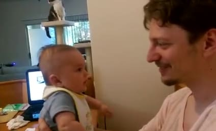 Baby Responds to Daddy: I Love You, Too!