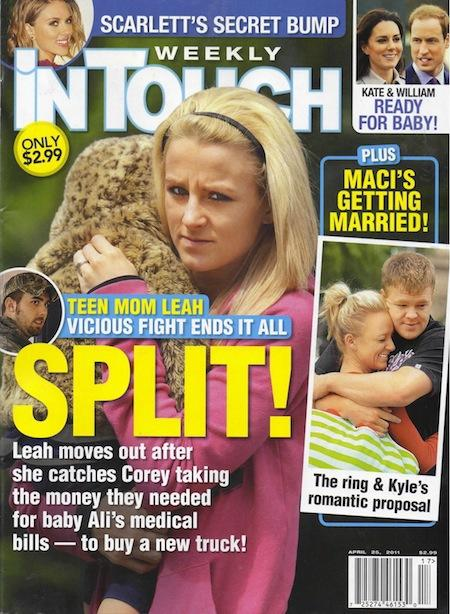 June 2011: Leah and Corey Divorce