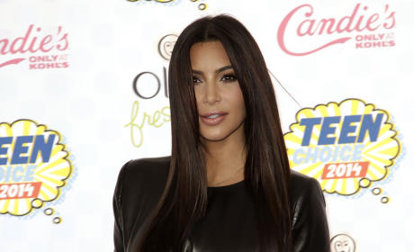 Kim Kardashian at the 2014 Teen Choice Awards