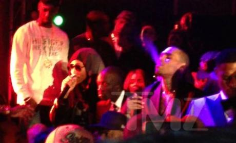 Chris Brown and Rihanna: Smokin' Hot at Post-Grammy Party