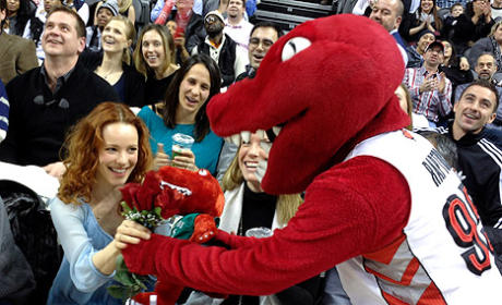 Rachel McAdams, Raptors Mascot