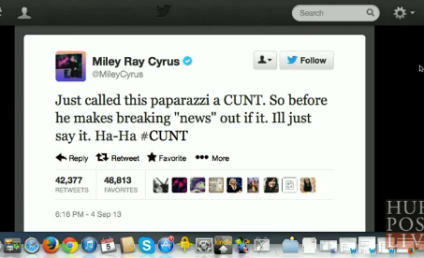 Miley Cyrus Slams Paparazzi as the C-Word, Brags About It on Twitter