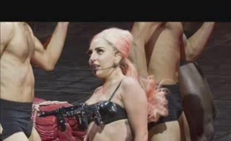 What do you think of Lady Gaga's assault rifle bra?