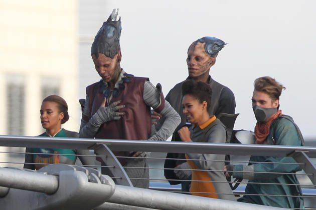 Guardians of the Galaxy Behind the Scenes Photo