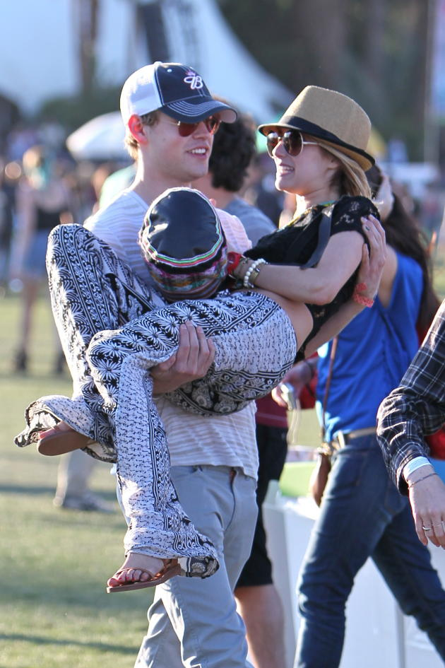 Chord Overstreet and Emma Roberts at Coachella