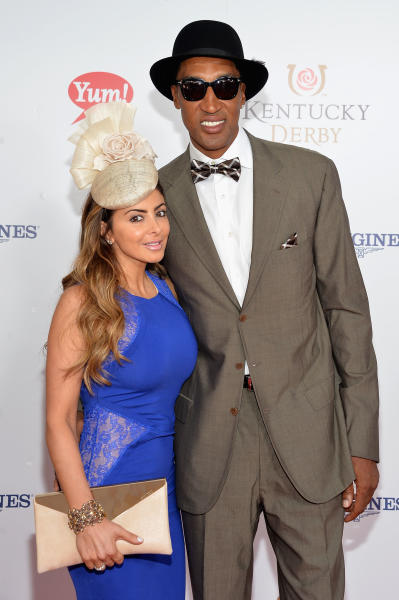 Scottie Pippen and Larsa Pippen at the Derby