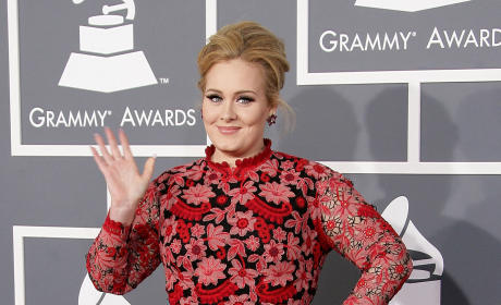 Adele at the 2013 Grammys