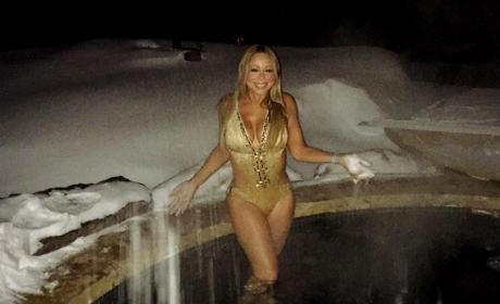 Mariah Carey Dons a Bathing Suit in Aspen