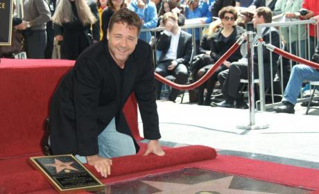 Russell Crowe Honored with Hollywood Walk of Fame Star