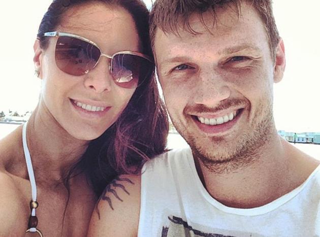 Nick Carter and Lauren Kitt Photo