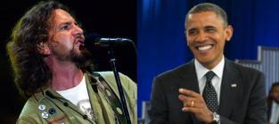 "Eddie Vedder Performs at Obama Fundraiser, Calls Mitt Romney Comments ""Upsetting"""