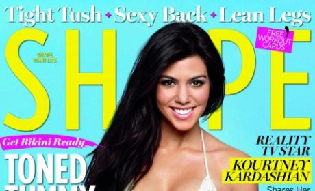 Kourtney Kardashian Shape Cover