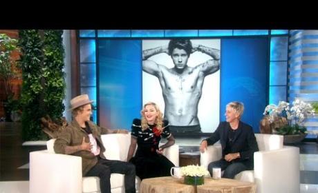 Justin Bieber and Madonna Flirt