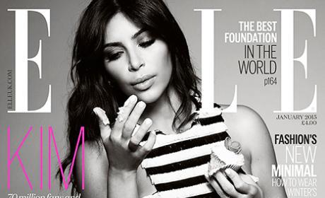 Kim Kardashian on Elle UK