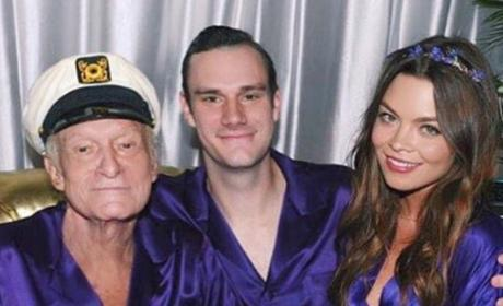 Hugh Hefner in a Robe