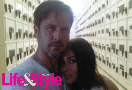 David Arquette and Jasmine Waltz