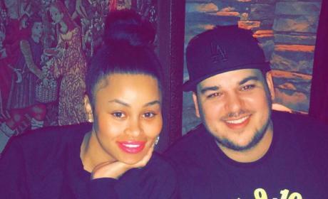 Rob Kardashian and Blac Chyna on a Date