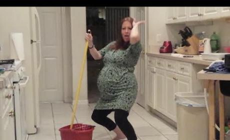 Pregnant Woman Twerks, Water Breaks