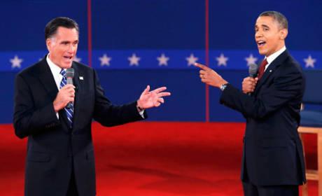 Obama, Romney Debate Photo