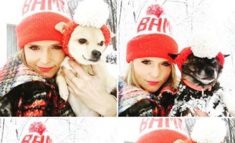 Miranda Lambert Cuddles with her dogs