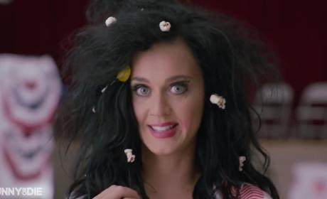 Katy Perry Votes Naked