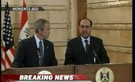 George W. Bush Greeted Warmly in Iraq
