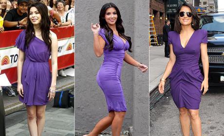 Who looks prettiest in purple?