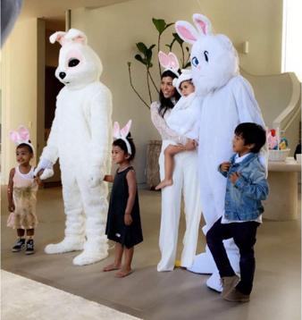 Kanye West and Tyga as Easter Bunnies