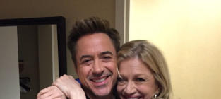 Robert Downey, Jr. and Diane Sawyer