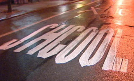 """School District Misspells """"Shcool"""" in Street Out Front"""