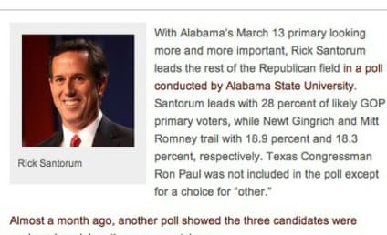 More Great Moments in Rick Santorum Headline Writing